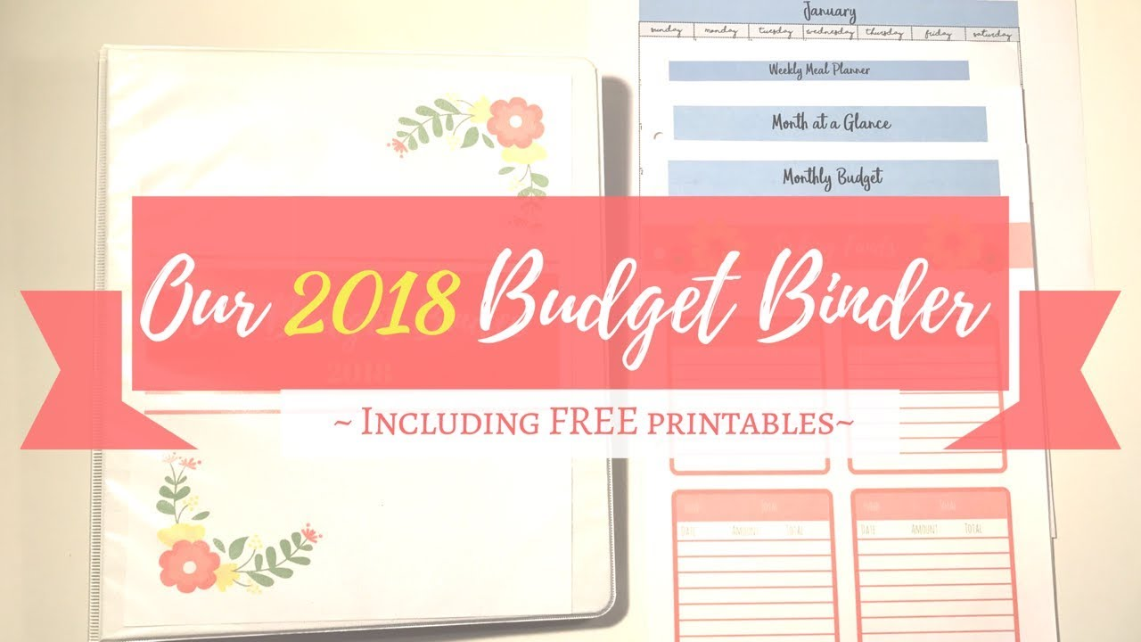 image relating to Free Binder Printables referred to as Our 2018 Price range Binder - Such as mounted up and Absolutely free printables!