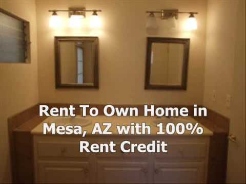 Mesa, AZ Rent To Own Home, 100% Rent Credit, No Qualifying, Bad Credit OK