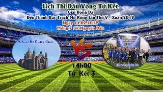 Trực Tiếp : Tứ Kết 3 . FC Bác Trạch Bắc vs FC Quảng Châu . Giải Bóng Đá ĐTBT Mở Rộng Năm 2019