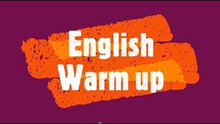 Видео урок английский Warming Up Разминка