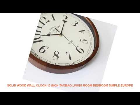 Solid wood wall clock 13 inch Taobao living room bedroom simple Europe