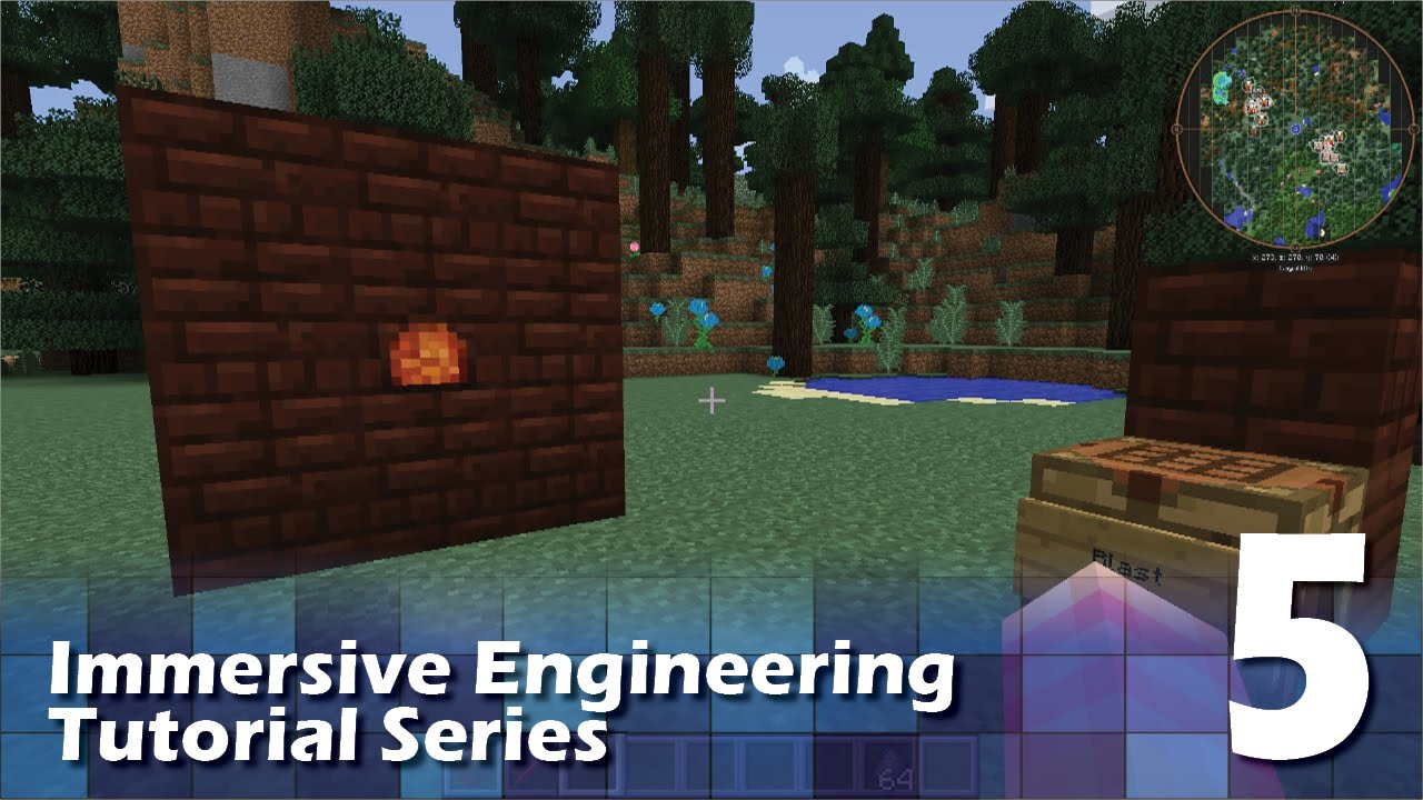 Immersive Engineering Tutorial #5 - Blast Furnace - YouTube