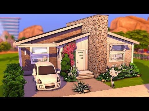Mid-Century Tiny Home | The Sims 4 Speed Build |