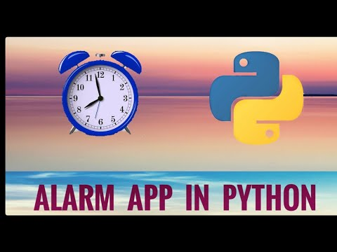 Create a Simple Alarm Application in Python