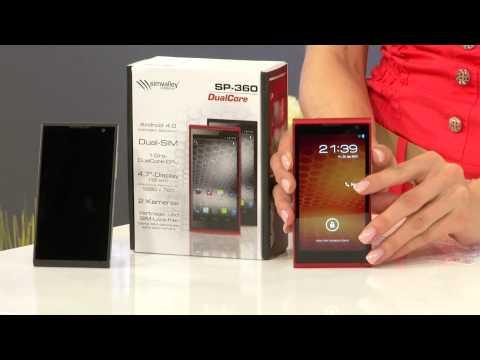 "simvalley MOBILE Dual-SIM-Smartphone SP-360 DualCore 4.7"", schwarz"