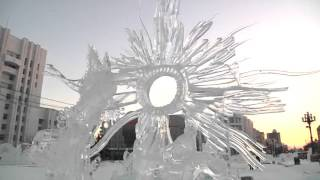 Ледяные фигуры Хабаровска - международный конкурс на площади Ленина