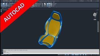 Racing Car Seat Part 1 - Autocad 2020 Training - Part Design