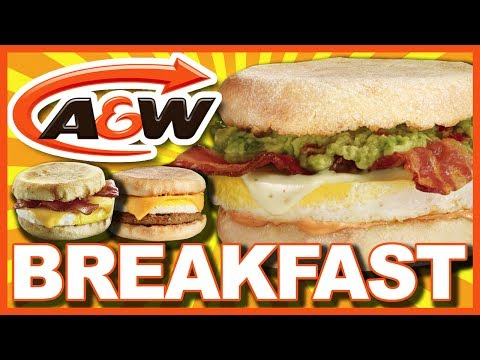 A&W Breakfast ♥ Bacon & Egger® Vs Sausage Egger®