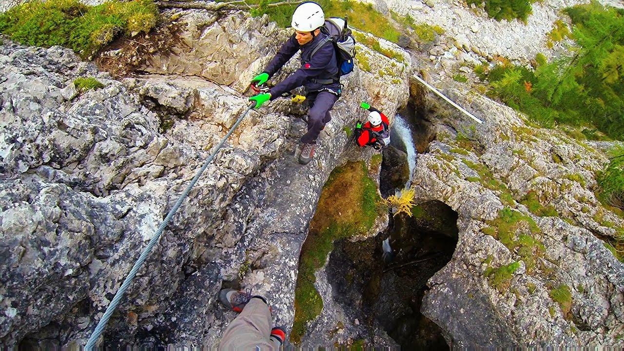 Klettersteig Verborgene Welt : Klettersteig verborgene welt youtube