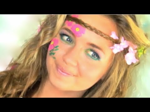Hippie Hair Makeup Tutorial In Under 2 Minutes I Naturesknockout
