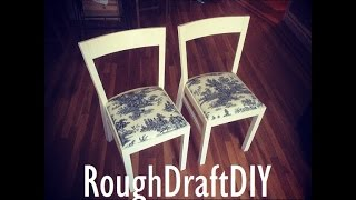 Diy Chair Makeover And Chair Restoration / How To Reupholster Chairs -- By Roughdraft Diy