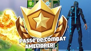 ACHAT NEW SAISON 3 PASOF OF COMBAT 100 PALIERS UPDATE!! on FORTNITE BATTLE ROYALE