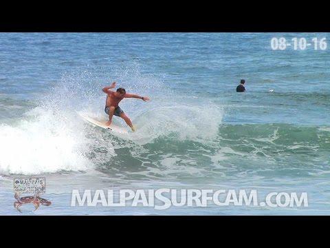 Surfing Mal Pais, www malpaisurfcam com 08 10 16 Santa Teresa Costa Rica