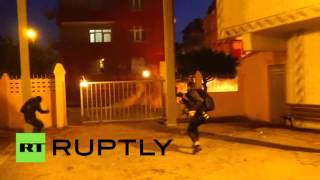 RAW: Istanbul streets literally on fire as pro-Kurdish protesters clash with police