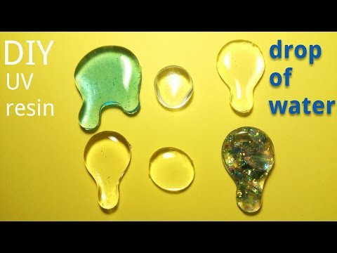 【DIY】UVレジンとグルーガンとおゆまるを使って作る水滴【UVresin】How to make drop of water with a UVresin and glue and OYUMARU