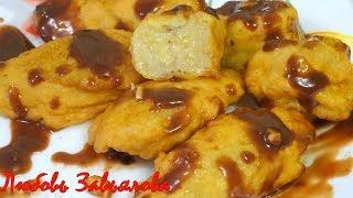 Восхитительный и простой десерт Бананы в кляре/Bananas in batter