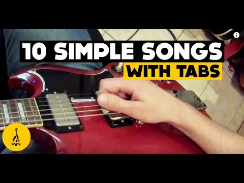 Super Easy Electric Guitar Songs For Beginners | 10 Simple Songs ...