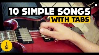 Super Easy Electric Guitar Songs For Beginners | 10 Simple Songs With Tabs