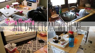 SPRING CLEANING! ALL DAY CLEAN WITH ME W/ NEW MUSIC! ULTIMATE CLEAN W/ ME