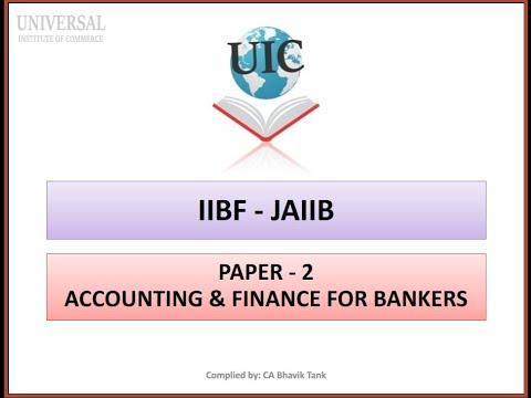 JAIIB - AFB (Paper 2) - # 1 Basics of Account