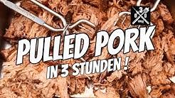 Kirsch Cola Pulled Pork in drei Stunden aus dem Dutch Oven - 030 BBQ