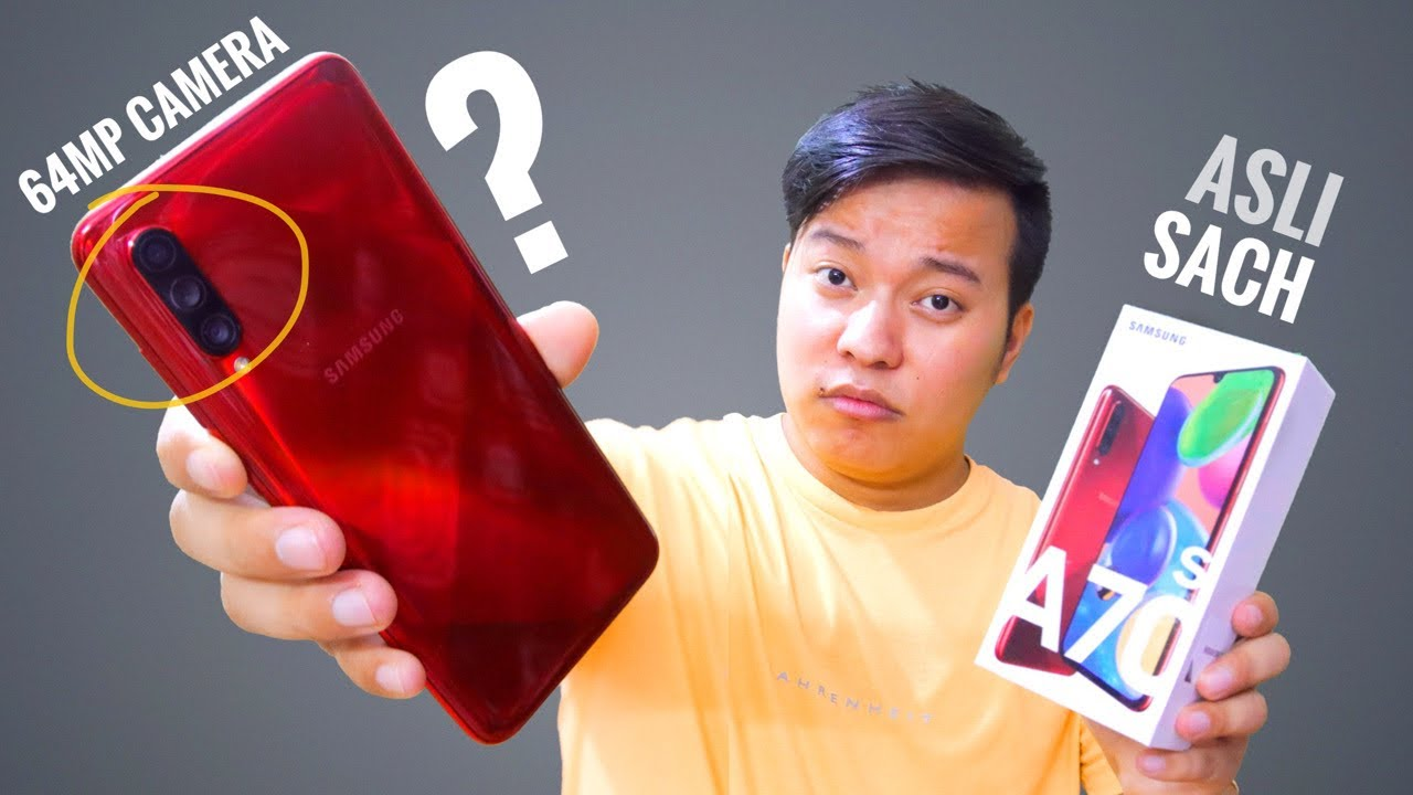 Samsung Galaxy A70s Hands on Review - 64MP Camera ????????
