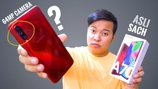 Samsung Galaxy A70s Hands on Review - 64MP Camera 🤔🤔