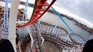 Roller Coaster Fun at Gröna Lund Amusement Park (on-ride POV)