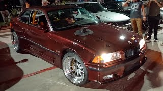 CRAZY BMW M3 Drift Car SHUTS DOWN Car Meet!!