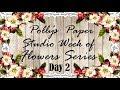 Flower Series Day 2 Filler Flowers Tutorial Polly's Paper Studio homemade handmade art and craft
