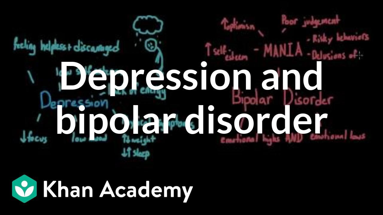 Depression and bipolar disorder | Behavior | MCAT | Khan Academy ...