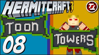 Building My Cartoon Factory! Toon Towers! - Hermitcraft Season 7: #8