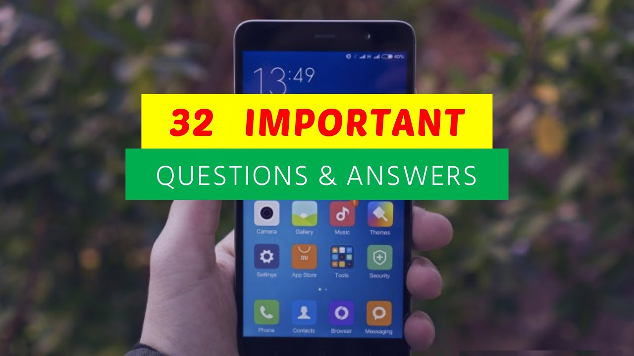 32 Important Questions and Answers of Xiaomi Redmi Note 3