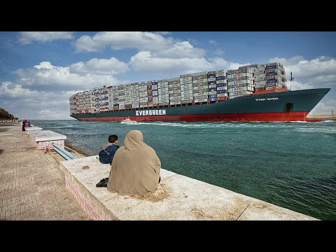 Passing Suez Canal -  Full Transit Experience