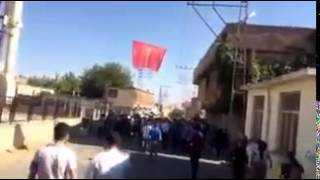 Pkk Flag Raised In Silvan/diyarbakir