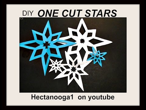 diy cutout paper stars how to make a paper snowflake christmas