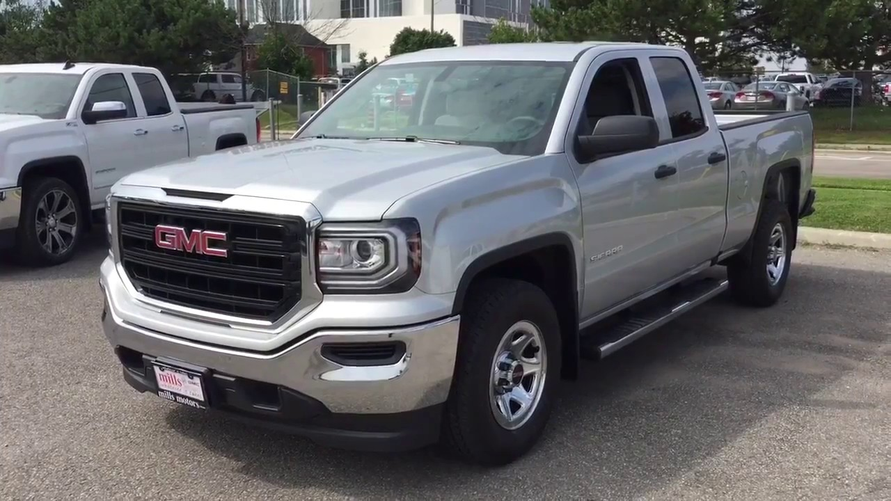 2018 gmc sierra 1500 2wd double cab silver oshawa on stock. Black Bedroom Furniture Sets. Home Design Ideas