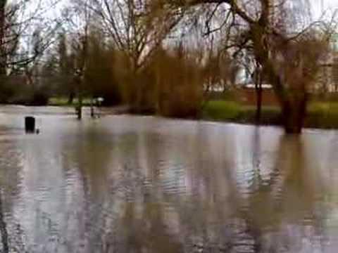 Westgate Leisure Area, Gloucester, Flooded