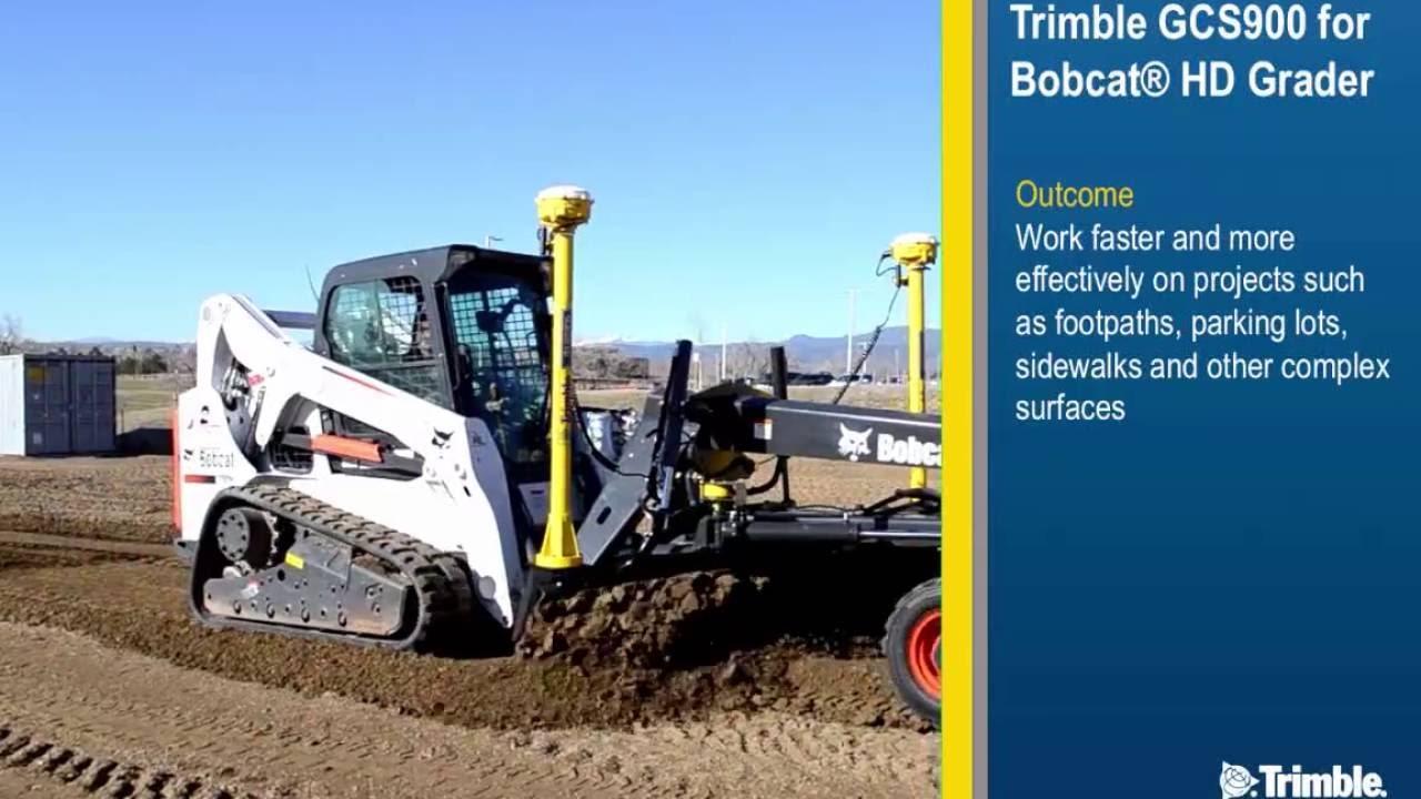 Trimble GCS900 Grade Control for Bobcat Grader Attachments