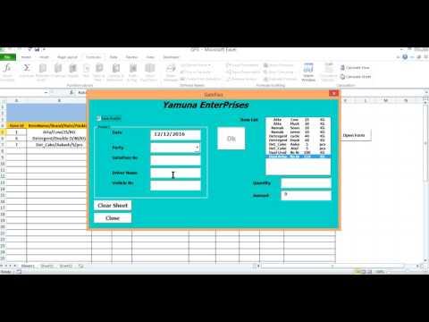 How to Create GatePass On Excel