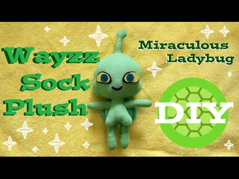 DIY Wayzz Sock Plush A Miraculous Ladybug Turtle Kwami