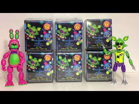 Five Nights at Freddy's Blacklight Mystery Minis Blind Boxes Opening thumbnail