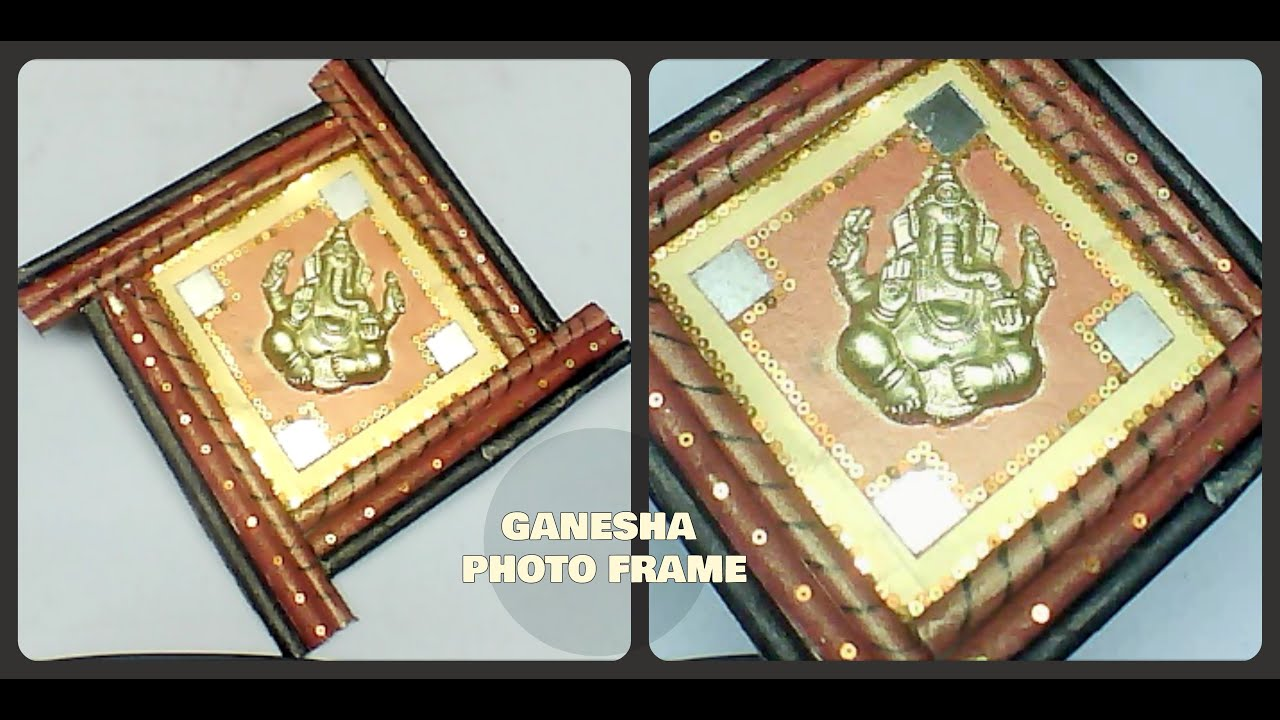 DIY Ganesha Photo Frame || Newspaper-Best from Waste - YouTube