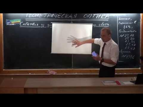 Урок 196 (осн). Следствия из закона прямолинейного распространения света