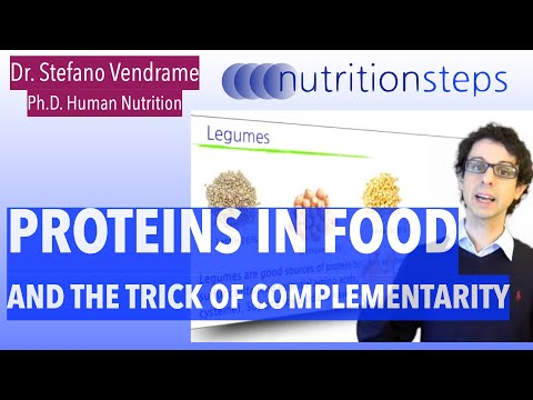 Proteins in food, and the trick of complementarity