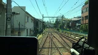 西武新宿線前面展望