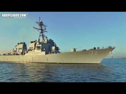 ARRIVAL & TOWING OF THE AMERICAN Destroyer USS «Mahan» (DDG-72)