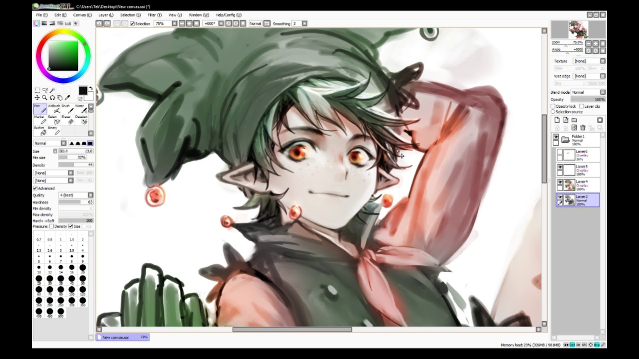 Manga / Anime Boy Speedpaint - Merry Christmas ! - YouTube