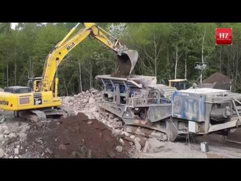 Abriss der Autobahnbrücken auf der A4 bei Friedewald