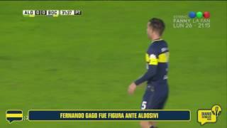 El gran partido de Fernando Gago ante Aldosivi